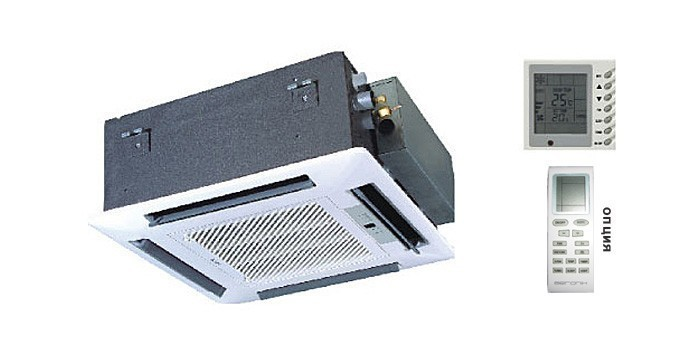 Кассетный внутренний блок AERONIK AKH12K3HI с пан-ю ТC03(фреон 410)