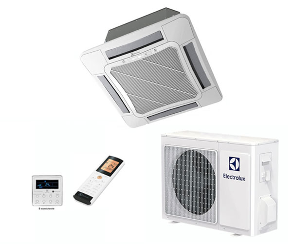 Кассетная сплит-система Electrolux EACС-48H/UP2/N3 + панель +  EACO-48H/UP2/N3_LAK Invertor