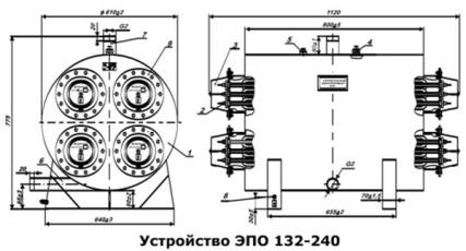 Шестифланцевый котел 3 ТЭНа ЭПО 180