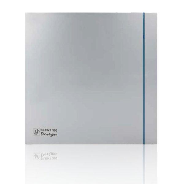 Бытовые вытяжные вентиляторы  SILENT-300CHZ 'PLUS' SILVER DESIGN-3C