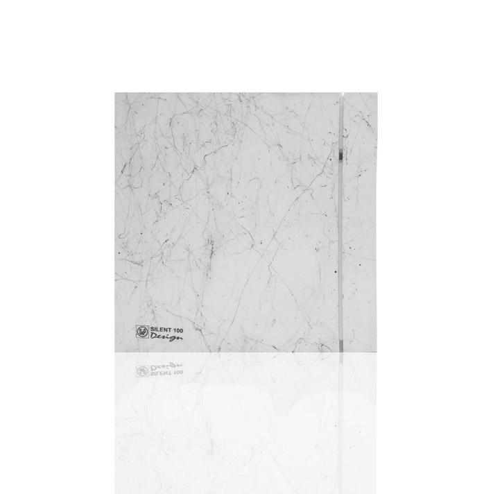 Бытовые вытяжные вентиляторы  SILENT-100CRZ MARBLE WHITE DESIGN-4C S&P (Испания)