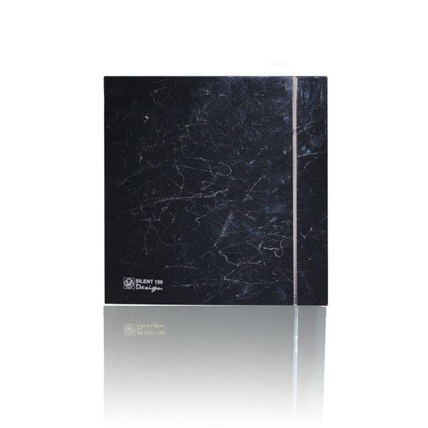 Бытовые вытяжные вентиляторы  SILENT-100CRZ MARBLE BLACK DESIGN-4C S&P (Испания)