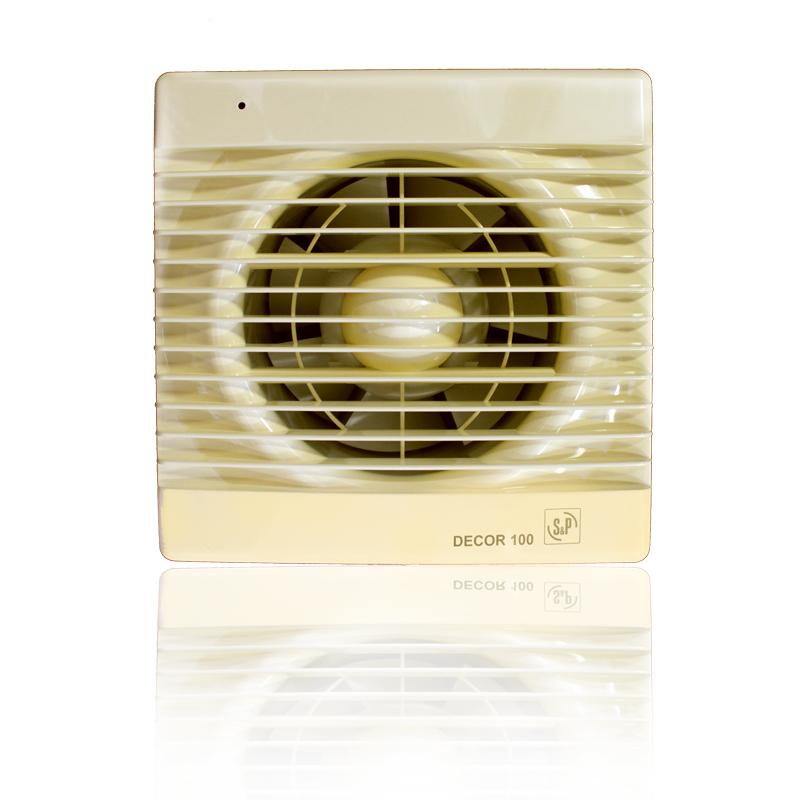 Бытовые вытяжные вентиляторы DECOR-100C IVORY