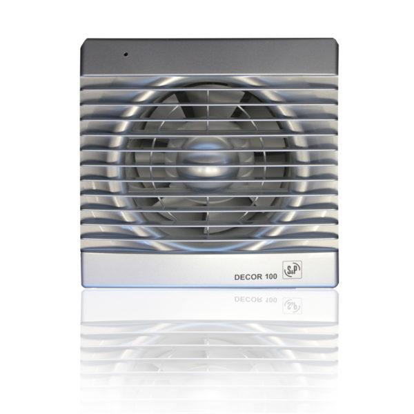 Бытовые вытяжные вентиляторы DECOR-100C SILVER