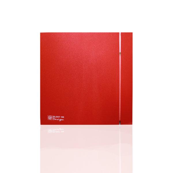 Бытовые вытяжные вентиляторы  SILENT-100CRZ  RED DESIGN-4C S&P (Испания)