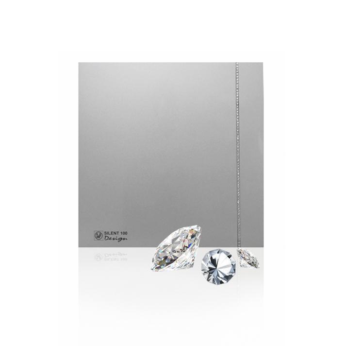 Бытовые вытяжные вентиляторы  SILENT-100CZ SILVER DESIGN SWAROVSKI S&P (Испания)